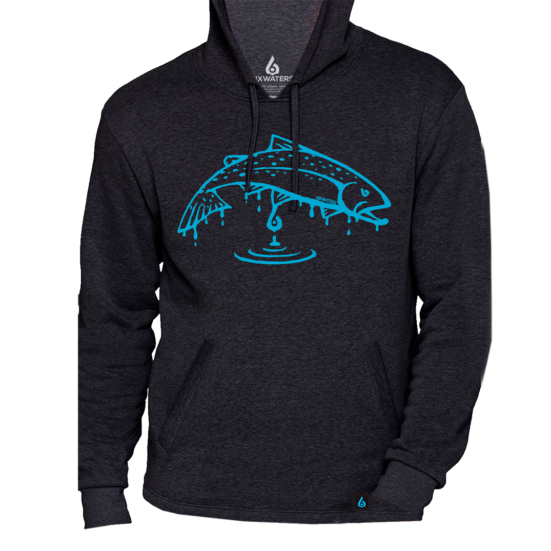 Excellent Fish Drip Hooded Sweatshirt - Six Waters Co. YK19