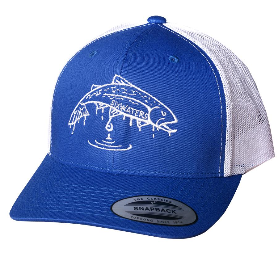 Fish Drip Trucker Hat – Six Waters Co. cc9ad65dfbb7